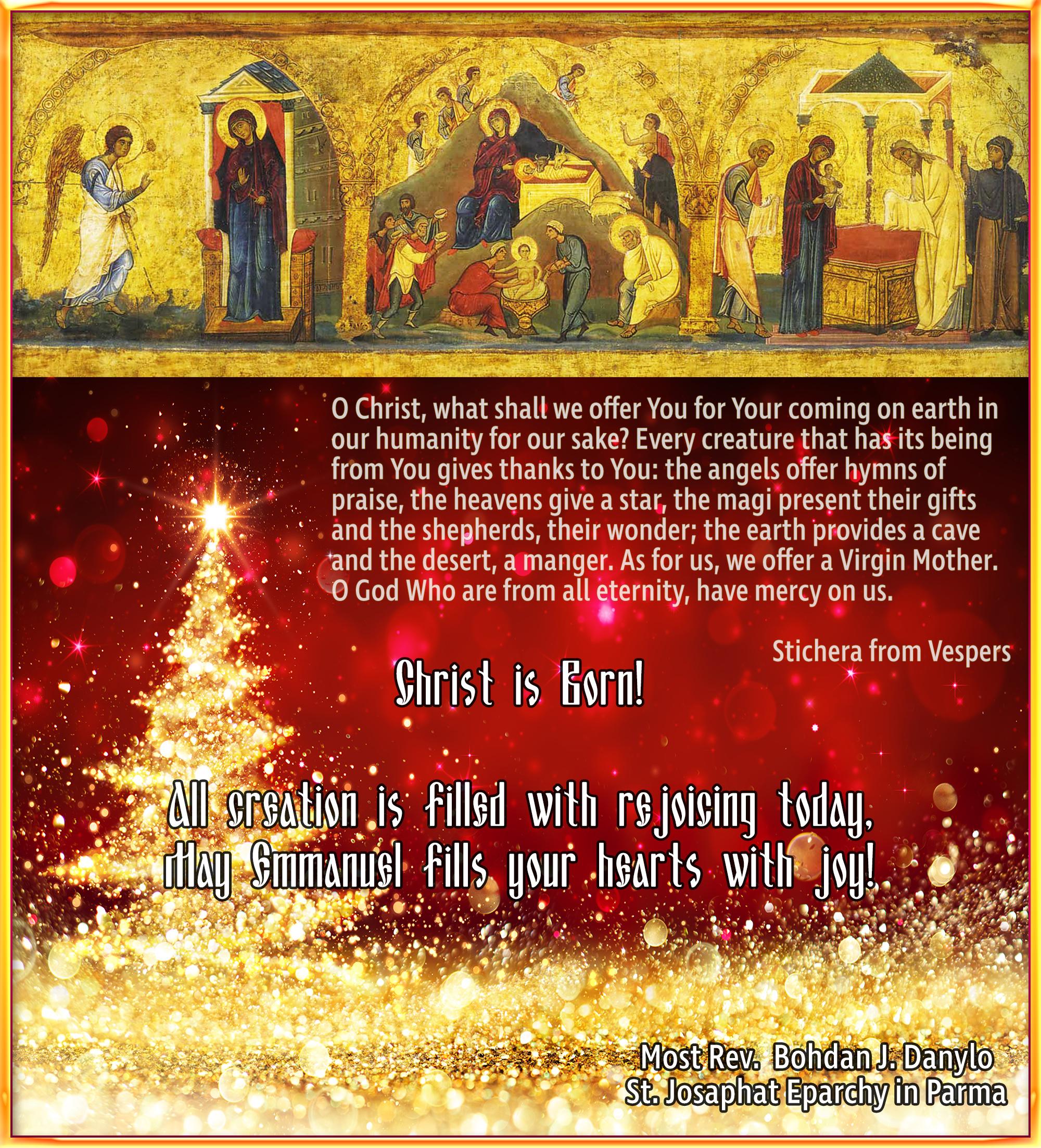Christmas Greetings St Josaphat Eparchy