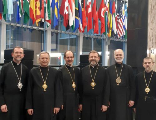 Блаженніший Святослав та владики Постійного Синоду УГКЦ зустрілися із професорами Американського католицького університету